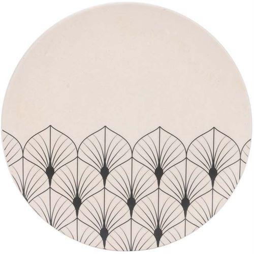 The Home Deco Factory - Assiette en fibre de bambou Eco concept 20 cm Feuilles