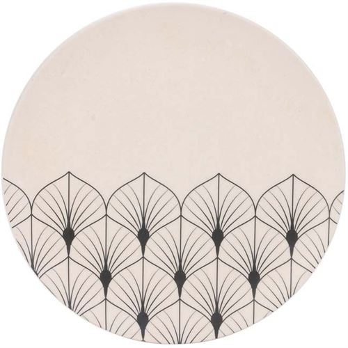 The Home Deco Factory - Assiette en fibre de bambou Eco concept 20 cm Feuilles