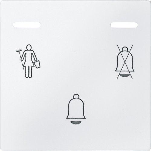 Merten 587619 Sonnette avec LED Afficher, blanc polaire, System M