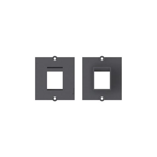 Frontabdeckung - schwarz - 1 anschluss bachmann 917.001