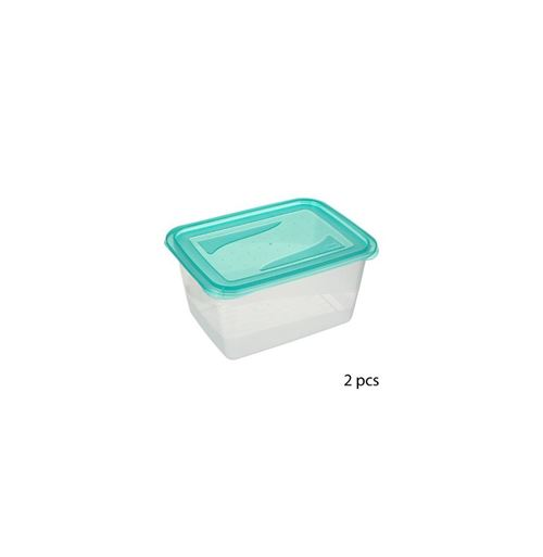 Lot de 2 boîtes de conservation - 2L - Bleu