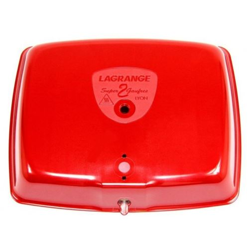 Capot rouge pour gaufrier super 2 gaufres lagrange - d851227