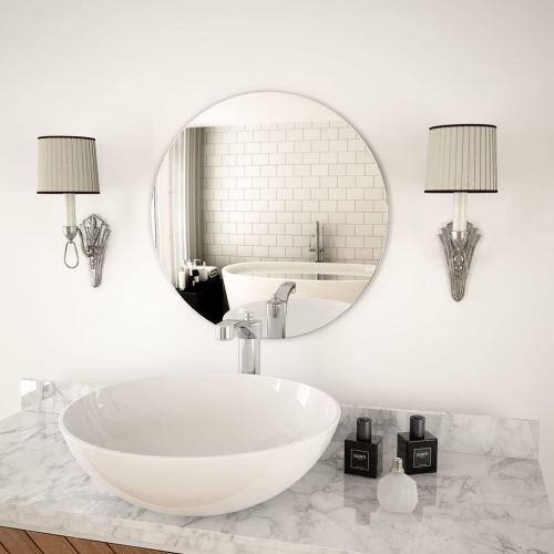 Miroir Mural Miroirs en verre Miroir Décoration pour Salon miroir Salle de Bains 50 cm Rond