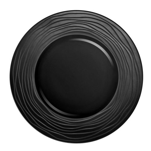 Escale Noir - Coffret 3 assiettes de présentation
