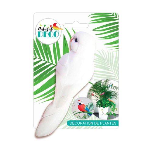 Déco Plantes – Medium Oiseau Blanc CD3830