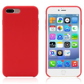 Coque en silicone rouge liquide pour Apple iPhone 7 Plus iPhone 8 Plus