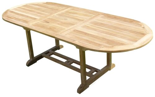 Table MILANA Ovale 180-240x100x75 Teck Premium