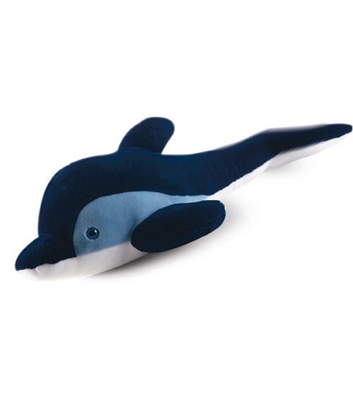 Peluche dauphin bleu géant 90 cm