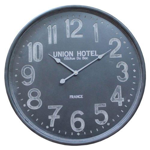 Grande horloge en bois coloris noir