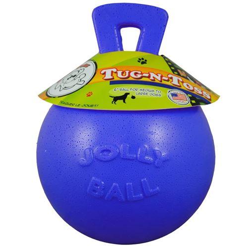 Jolly Pets Balle pour chiens Tug-n-Toss 20 cm Bleu