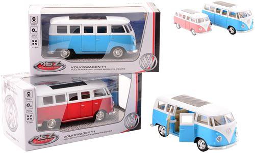 Johntoy - Véhicule miniature Bus Wolkswagen t1 - couleur aléatoire