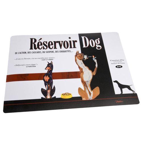 Tapis de gamelles rectangulaire en PVC RESERVOIR DOGS