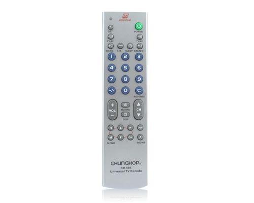 (#103) Universal TV Remote Control (RM 68E)(Silver)