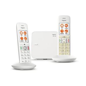 5 sur t l phone fixe sans fil gigaset e370 duo blanc. Black Bedroom Furniture Sets. Home Design Ideas