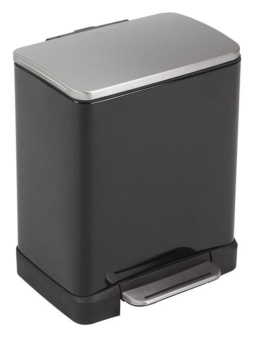 Poubelle pedalbin e-cube 20l noir, eko