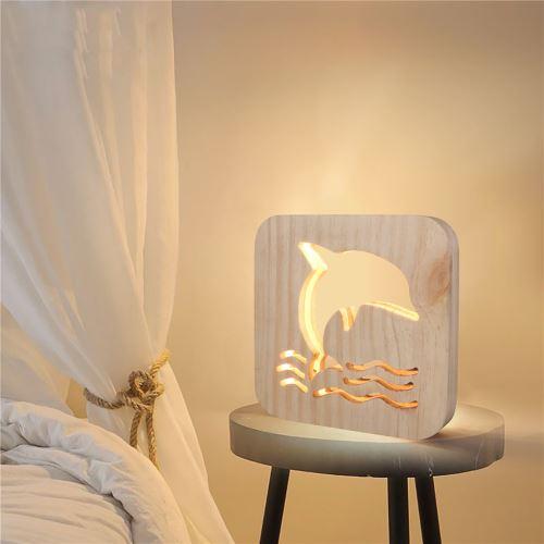 Creative Craft Décoration Lampe en bois Led Lumière Veilleuse Lampe de table_onaeatza441