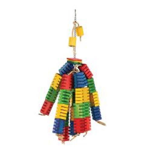 Happy Pet - Jouet pour perroquet bloc de couleurs (L) (Peut varier) - UTBT2156