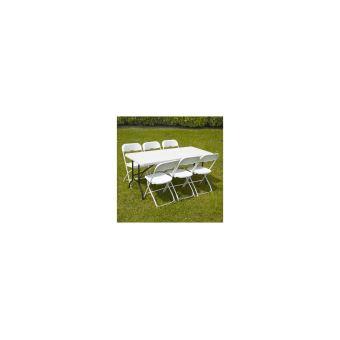 Ensemble Table Et Chaises Pliantes De Jardin 152cm Rekkem