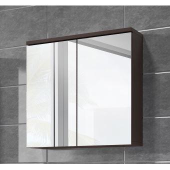 Meuble à miroir 60x59 cm Toledo wenge - Miroir armoire miroir salle ...