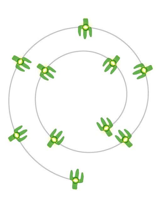 Lampe Cactus LED ensemble de lumière de chaîne