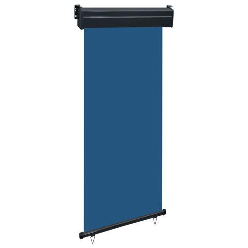 vidaXL Auvent latéral de balcon 80x250 cm Bleu