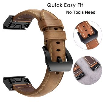 bracelet cuir garmin fenix 5