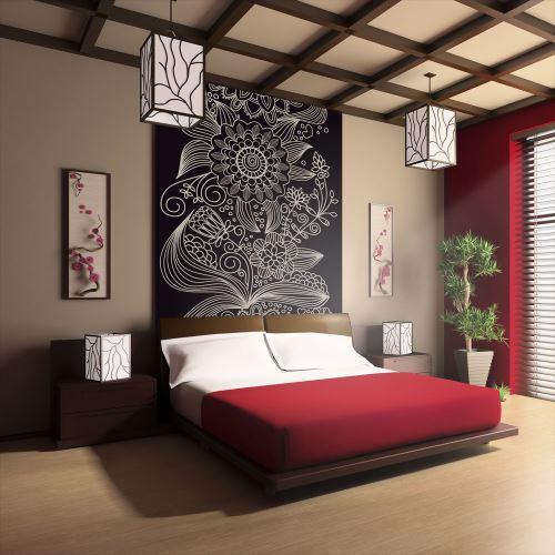 Papier peint | motif floral | 400x309 | Fonds et Dessins | Motifs floraux | ornement |
