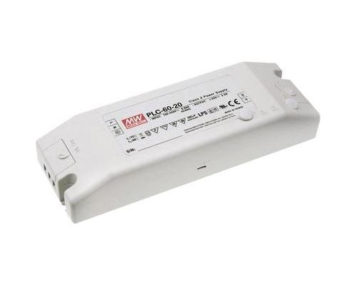 Driver led mean well plc-60-12 12 v dc 5 a