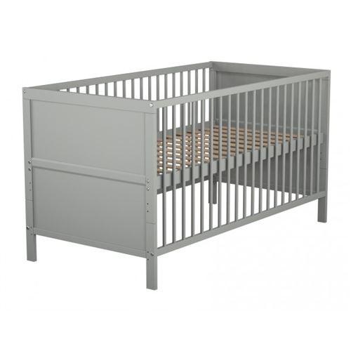 Lit bébé évolutif gris 70x140
