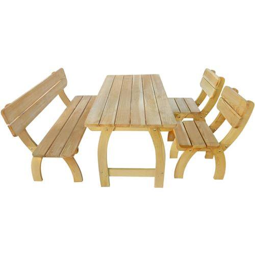 vidaXL Jeu de salle à manger d'extérieur 4 pcs Bois de pin imprégné