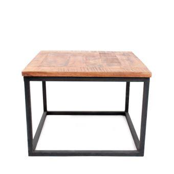 table basse bois et mtal dunk dimensions 60x60 cm achat prix fnac - Table Basse Dimension