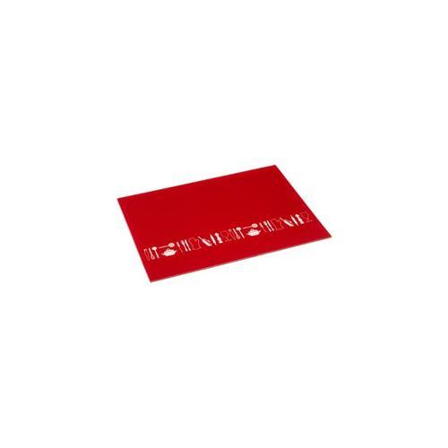 Planche à Découper en Verre Cuisino 52x30cm Rouge