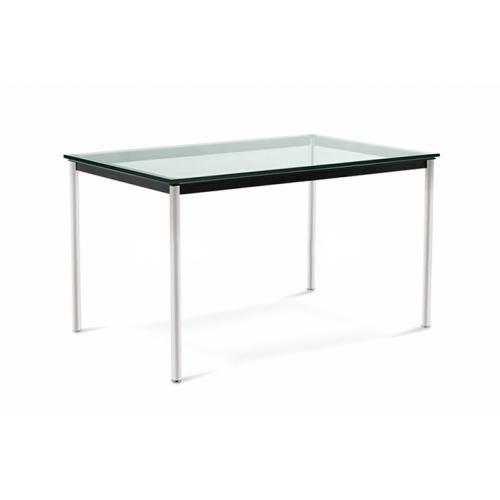 Table rectangulaire en verre LC11 Style Le Corbusier