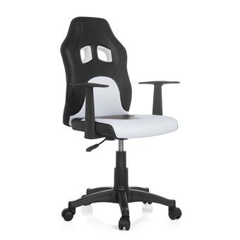 Chaise de bureau Siège pivotant TEEN RACER AL noirblanc hjh OFFICE