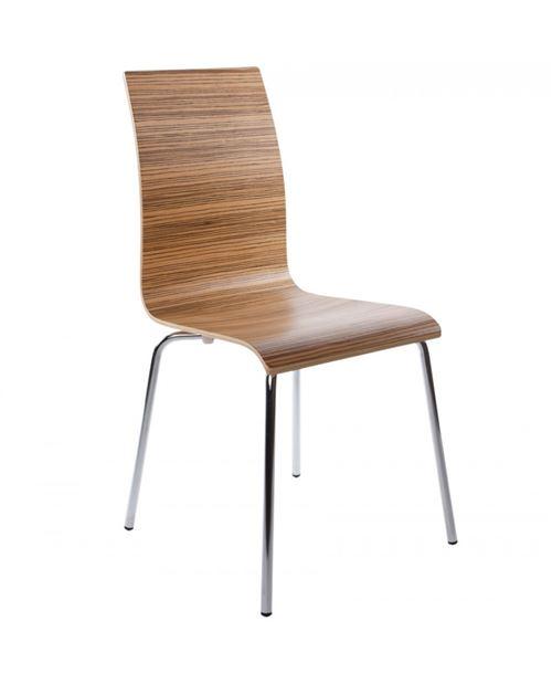 chaise design (non empilable) CLASSIC ZEBRANO 41x48x88 cm