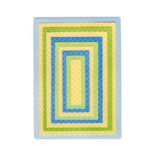 Sizzix matrice de découpe framelits set 10 pieces de découpage - rectangles siz658610