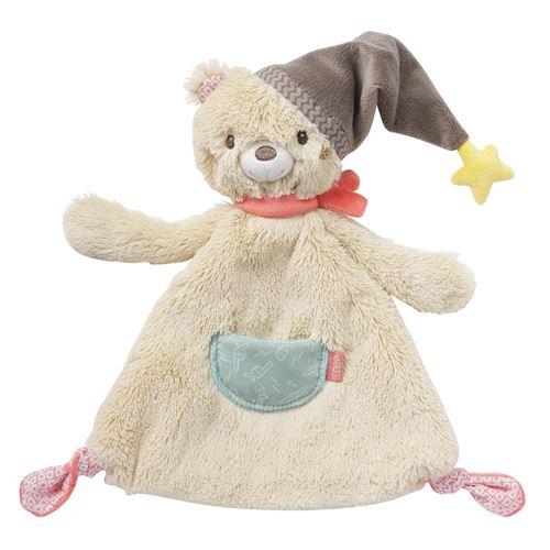 Fehn couverture Brunopeluche ours 27 cm beige
