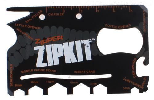 Summit multi-outil Zipper 8.5 x 5.5 cm noir