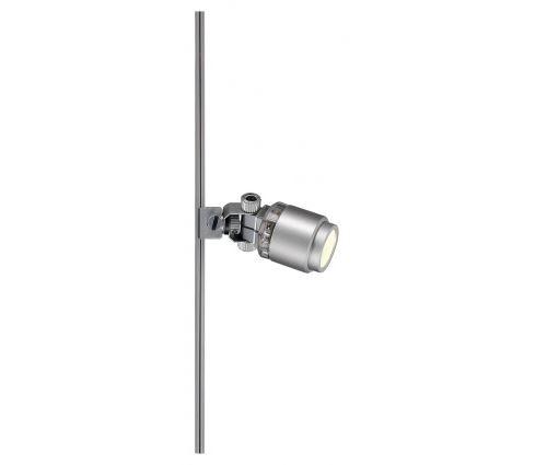 Power-led spot pour glu-trax, gris argent, 1w, 3000k