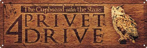 Plaque murale en métal 4 Privet Drive 30.5 x 10.1cm