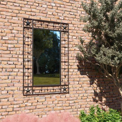 Miroir Mural Miroirs en verre Miroir Décoration de jardin pour Salon miroir Salle de Bains 50 x 80 cm noir Modèle 1