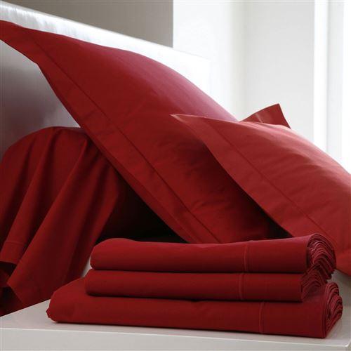 Taie d'oreiller Coton BLANC DES VOSGES - Carmin - 50 x 73 cm