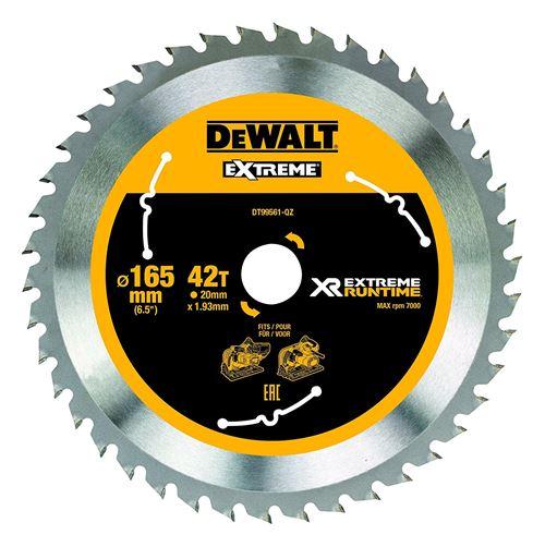 DeWalt XR Runtime circulaire lame de scie Extreme Batterie, 1 pièce, 165/20 mm 42 WZ/FZ, dt99561 de QZ