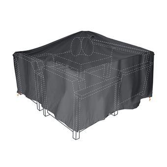 Housse de protection pour salon de jardin 160x160cm noir - Mobilier ...