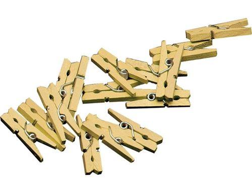 Haza Original mini set de pinces à linge 20 pièces 2,5 cm or