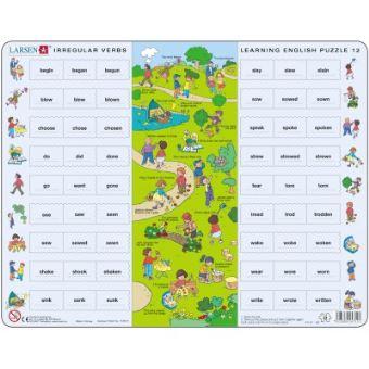 Puzzle 54 Pieces Puzzle Cadre Apprendre L Anglais 12 Les Verbes Irreguliers En Anglais Larsen Puzzle Enfant Achat Prix Fnac