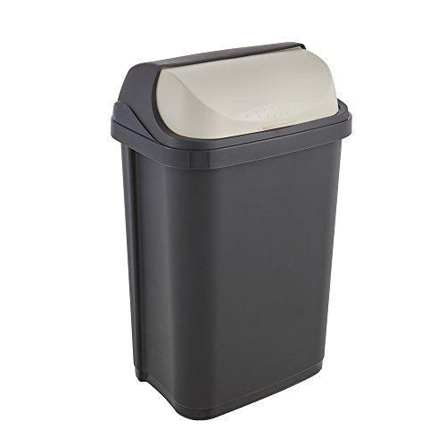Okt 2053711 roll-top poubelle plastique graphite crème 25 l 1045482600000