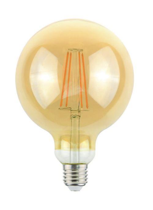 HOMEMANIA Ampoule Globo Or en Verre, 9,5 x 9,5 x 13,8 cm, 1 x E27, 4W, 400LM, 2000K, 240V