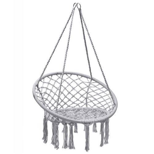 hamac suspendue giantex fauteuil relax de jardin avec 1 place capacité 150kg en coton avec des franges romantiques pour balcon