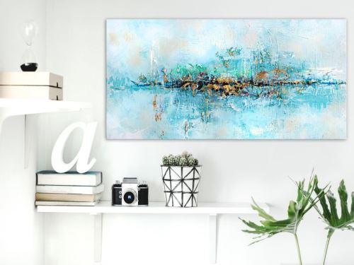 Tableau - Lagoon (1 Part) Wide .Taille : 60x30
